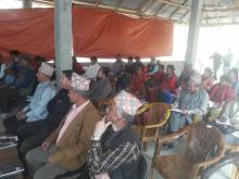 गाउँ सभामा उपस्थित निर्बाचित प्रतिनिधि  ज्यू हरु