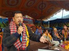 कार्यक्रमका अतिथि नेपाली काँग्रेसका जिल्ला सभापति जगदिश्र नरसिंंम केसी  ज्यू