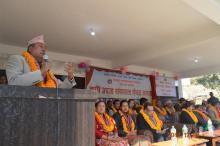 आफ्नो मन्तब्य राख्नुहुदै गाउँपालिका प्रमुख राम कृष्ण थापा