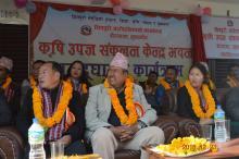 माननीय हित बहादुर तमाङ,गाउँपालिका प्रमुख राम कृष्ण थापा र प्रदेश नं ३ को उपसभा मुख राधिका तमाङ क्रमस देब्रे पट्टि बाट
